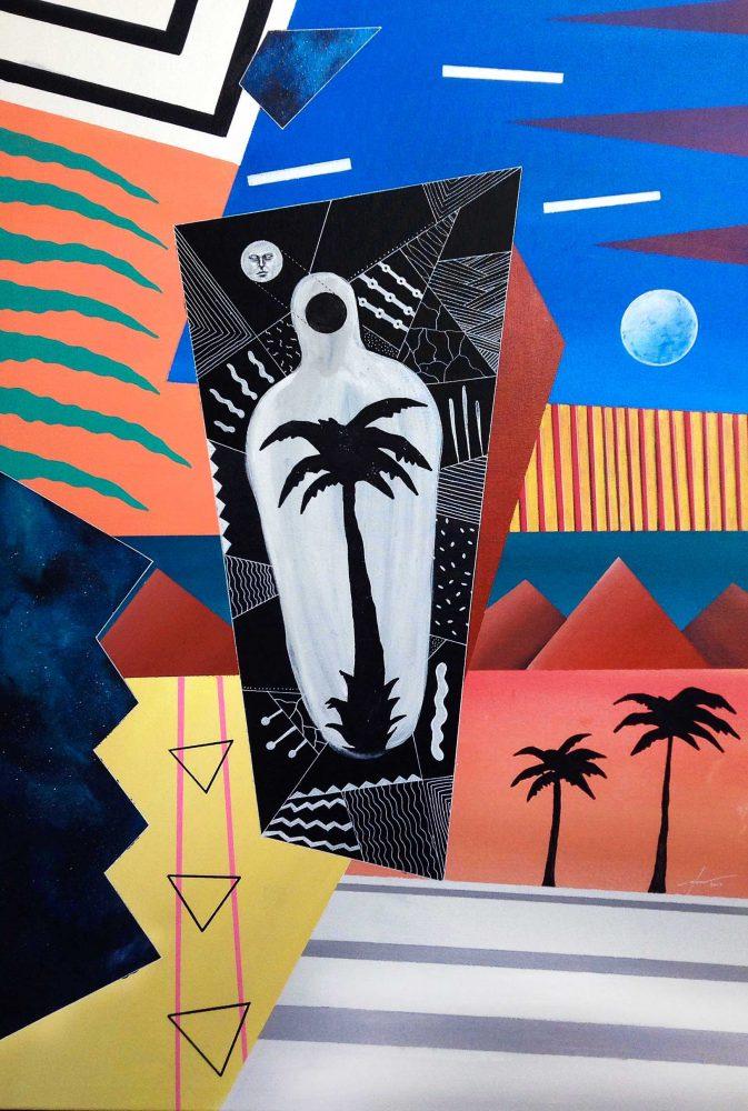 Peinture Pau cubisme Afonso